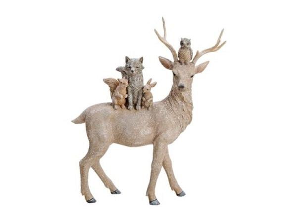 Deko Hirsch Glitter mit Tieren