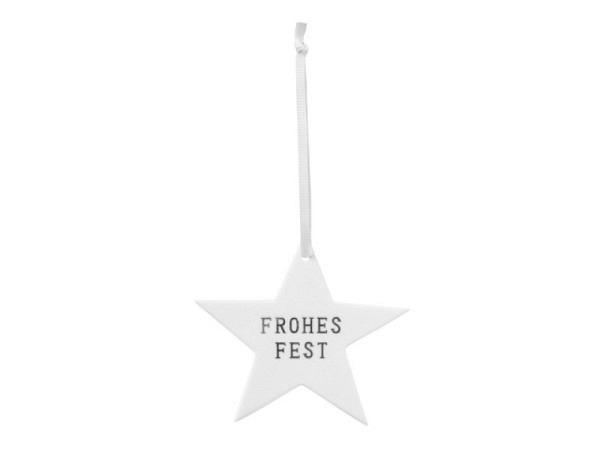Deko Aufhänger Räder Ornament Stern Frohes Fest