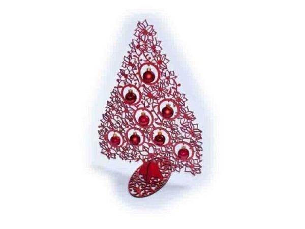 Deko Weihnachtsbaum Christstern rot 40cm mit 8 Kugeln
