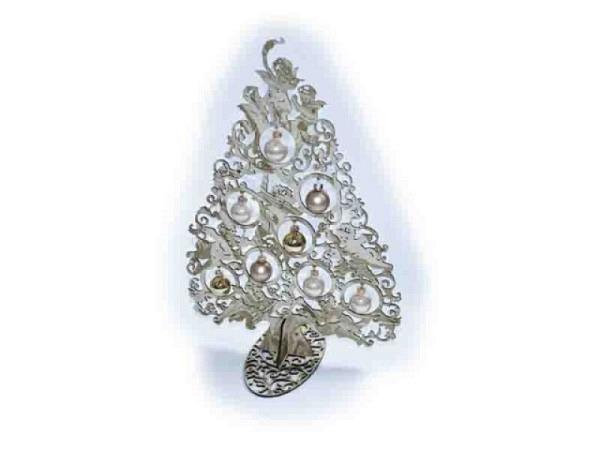 Deko Weihnachtsbaum Engel créme-gold 40cm mit 8 Kugeln