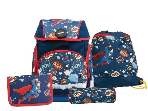 Schulthek Funki Joy-Bag Superhero 4-tlg. Set
