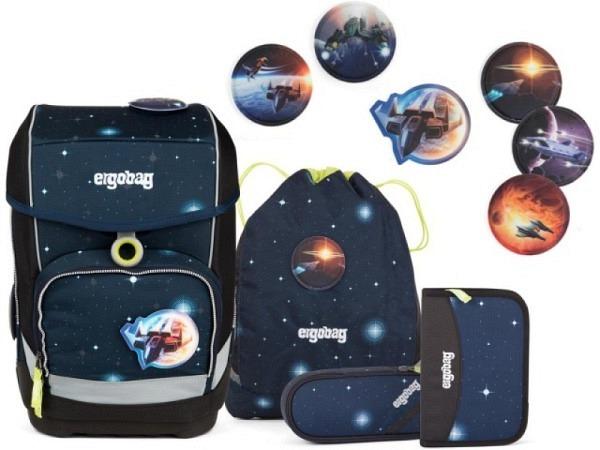 Schulthek Ergobag Cubo Special Edition Galaxy Glow KoBärnikus Set 5t..