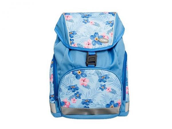Rucksack Funki Slim-Bag Hawaii, blau mit flowerprint