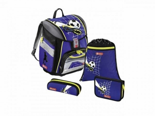 Schulthek Step by Step Touch 2 FLASH Soccer Team 4-tlg. Set, Schulth..
