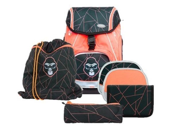Schulthek Funki Flexy-Bag Neon Edition Gorilla 6-tlg. Set