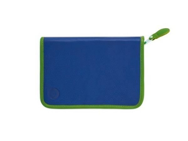 Etui Sonnenleder Lasse blau grün 20x14x2,5cm