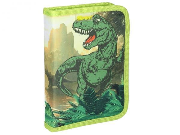 Schüleretui Spirit Empty T-Rex green gefüllt