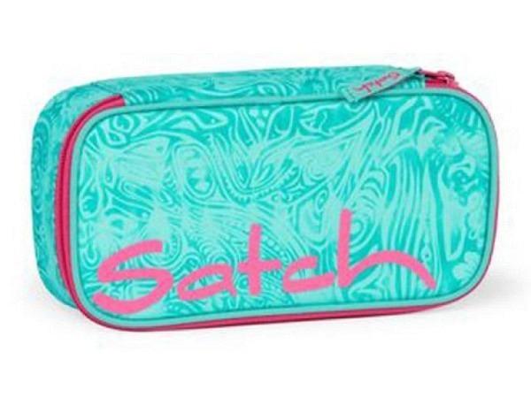 Schüleretui Satch Aloha Mint, eckige Form, Grösse: 22,5x11x5,5cm