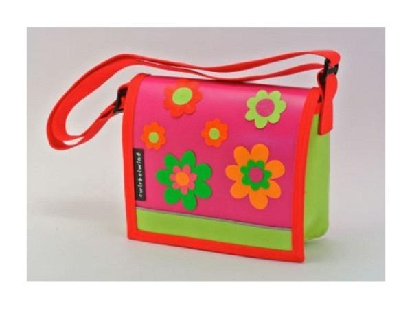 Kindergartentasche Cwirbelwind Blumen Schweizer Handarbeit