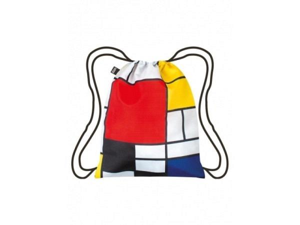 Sportbeutel Loqi Piet Mondrian 34x43,5cm