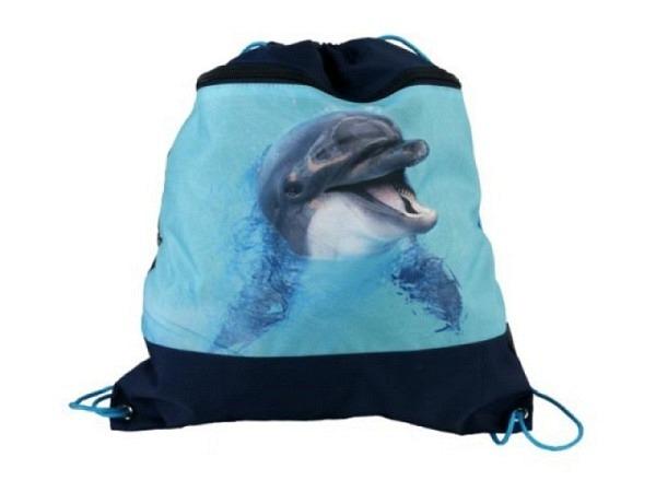 Sportbeutel Funke Delfin schwarzer Beutel mit Delfinen