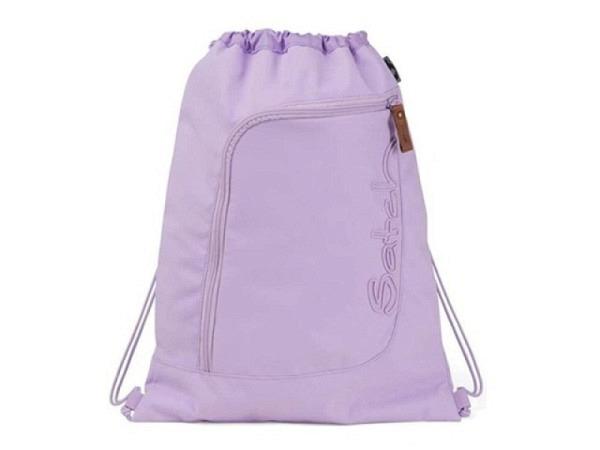 Sportbeutel Ergobag Satch Black Bounce schwarz mit blauem Schriftzug, 35x10x45cm, kann wie ein Rucksack getragen oder einfach am Schulrucksack fixiert werden. Mit grossem Hauptfach Kordelzugverschluss. Kleines Aussenfach mit Reissverschluss. Mit Stoffen..