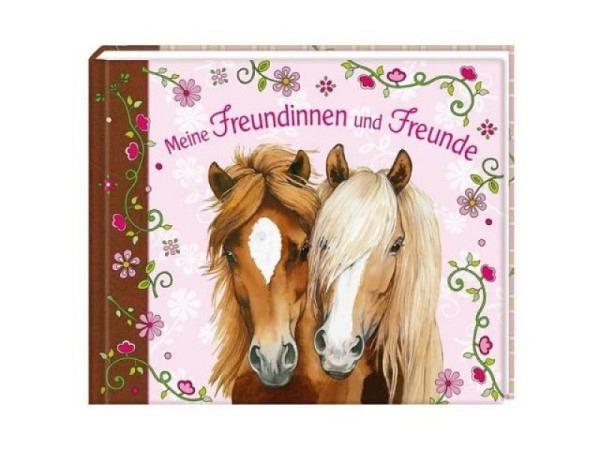 Freundschaftsbuch Pferdefreunde 20,5x17cm Pferde-Design