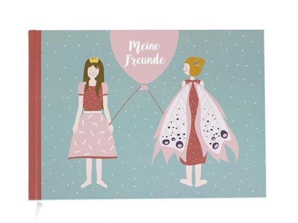 Freundschaftsbuch Be You! 16x16cm weiss bedruckt blau/pink