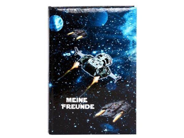 Freundschaftsbuch Goldbuch Turnowsky Raumschiff A5-Format