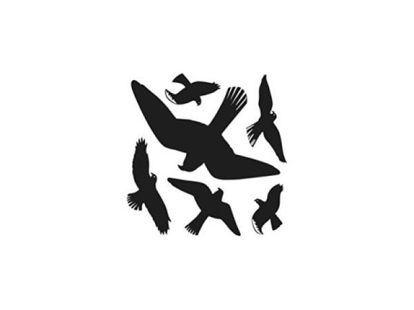 Aufkleber Herma Warnvögel Silhouette schwarz