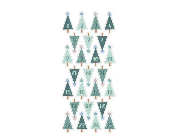 Aufkleber Artoz Artwork Schneesterne, mit 6 grossen Sternen