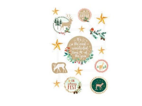 Aufkleber Glanzbilder Weihnachtsmann, mit Glocken
