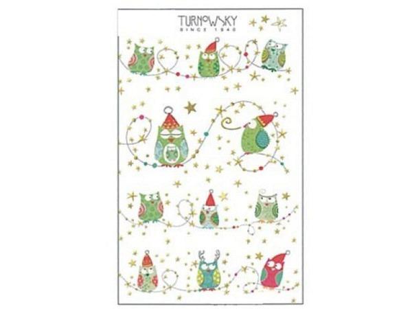 Aufkleber Turnowsky Sticker Eulen mit Sternen