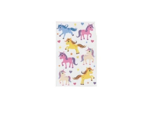 Aufkleber bsb Deco Sticker, bunte Ponys und Einhörner