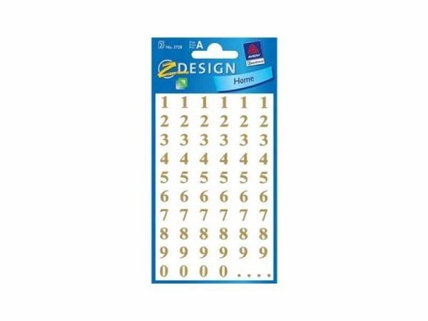 Aufkleber Zweckform Home Zahlen gold auf transparenter Folie