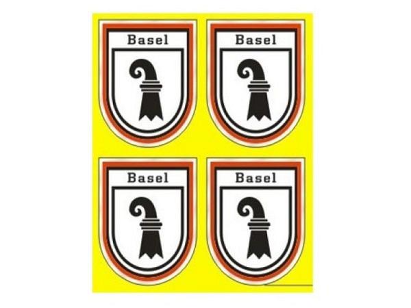 Aufkleber Wappen Basel klein, 4 Stk pro Bogen