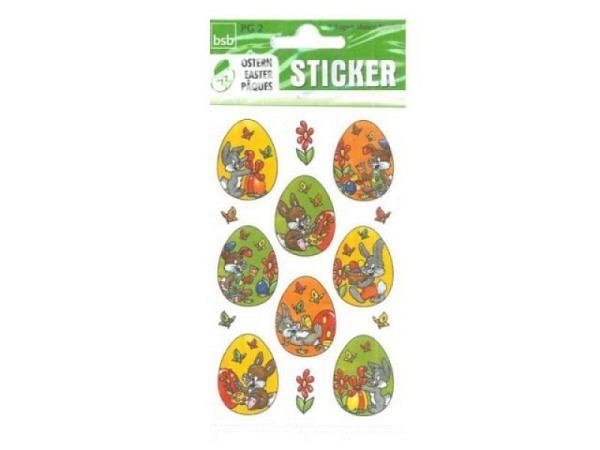 Aufkleber bsb Creative-Sticker Osterhasen fröhlich