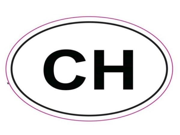 Aufkleber CH-Kleber, mit CH beschriftung und Rand