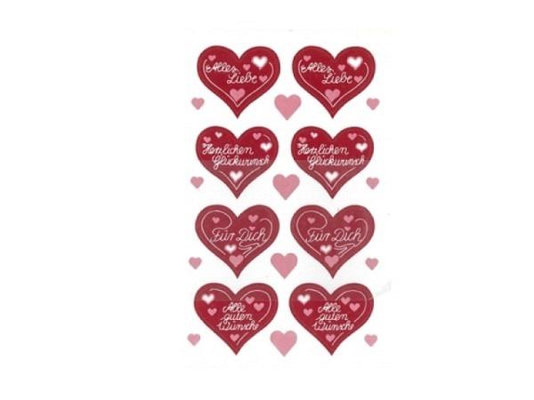 Aufkleber bsb Deco Sticker Alles Liebe, Blisterpackung