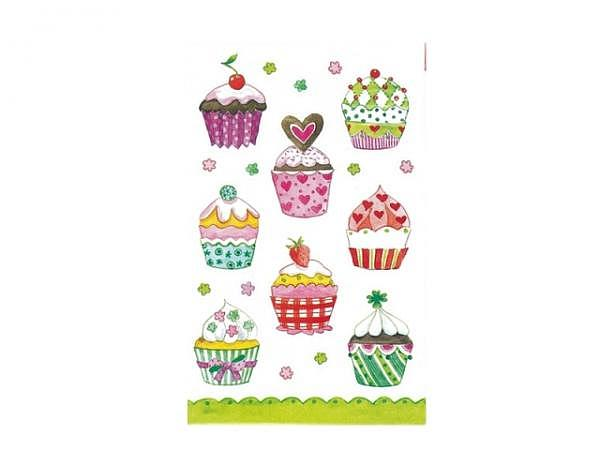 Aufkleber bsb Deco Sticker Cupcakes, Blisterpackung
