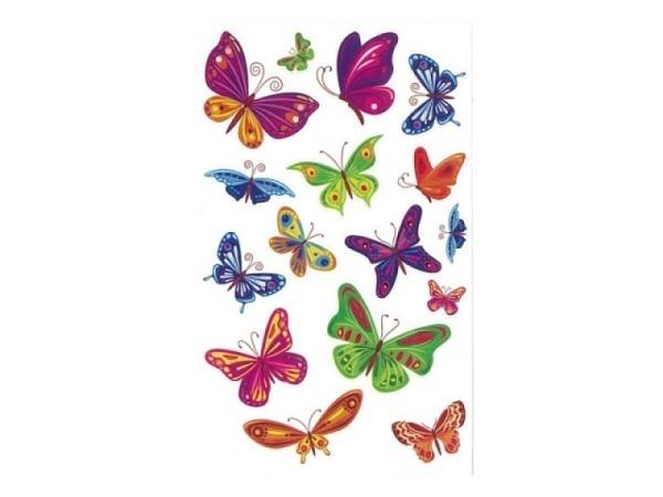Aufkleber bsb Deco Sticker bunte Schmetterlinge, Blisterpackung