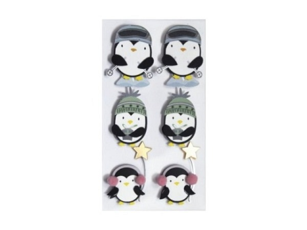 Aufkleber Artoz Artwork Pingu mit Accessoires 6Stk