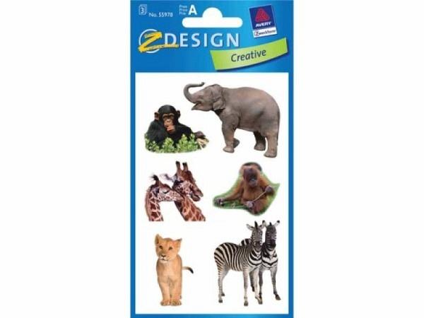 Aufkleber Zweckform Creative Safari