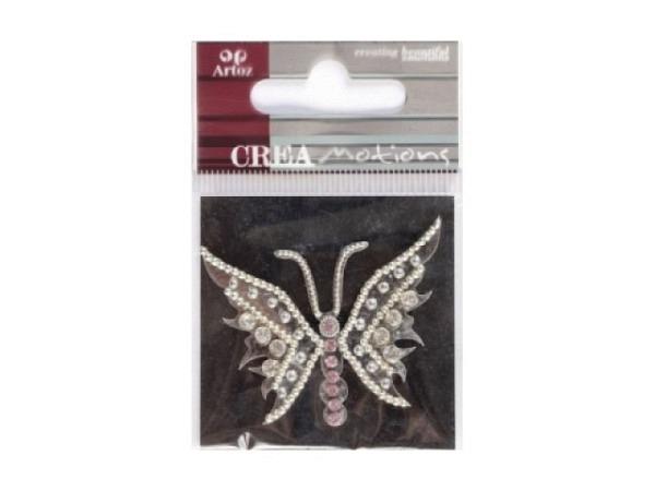 Aufkleber Artoz Crea Motions Schmetterling silber-perle 1Stk