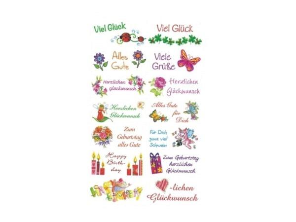Aufkleber bsb Deco Sticker Gratulations- und Glückwunschsticker