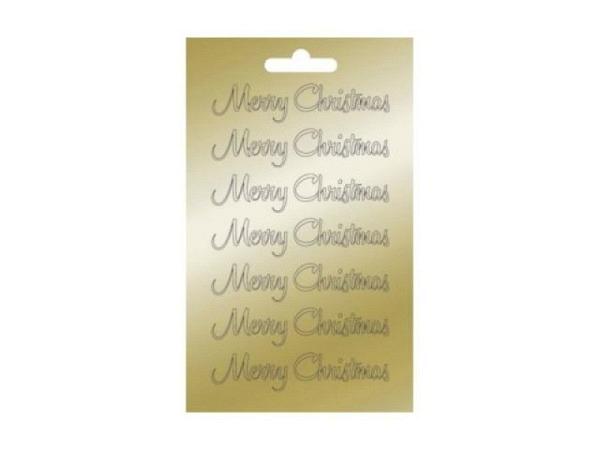 Aufkleber Artoz Collato Frohe Weihnachten gold