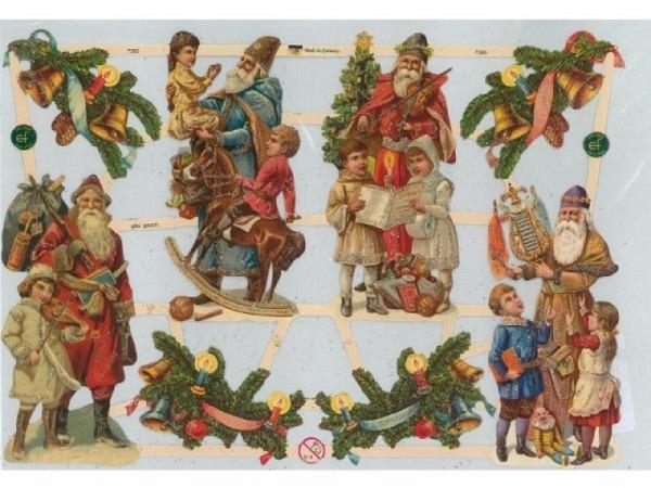 Aufkleber Glanzbilder mit Weihnachtsmänner