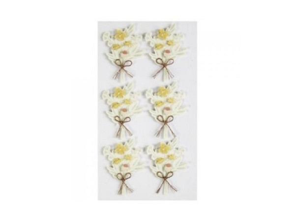 Aufkleber Artoz Artwork Geige mit goldenen Noten, 4Stk