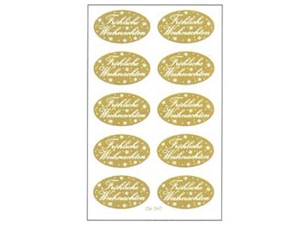 Aufkleber bsb Deco Sticker Fröhliche Weihnachten gold