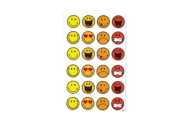 Aufkleber bsb Sticker Smiley World, smileys in rot, orange und gelb