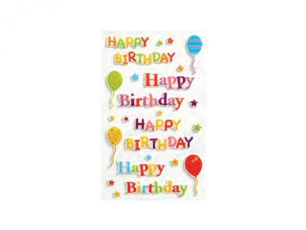 Aufkleber bsb Creative-Sticker, 3D-Effekt Happy Birthday