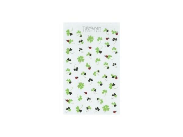 Aufkleber bsb Sticker Turnowsky, filigrane Kleeblätter