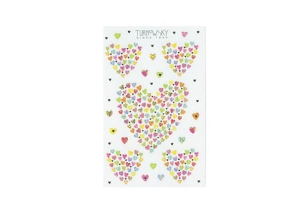 Aufkleber bsb Sticker Turnowsky, Herz gerformt aus Herzchen