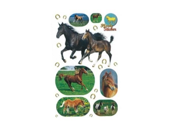 Aufkleber bsb Deco Sticker Pferde, Blisterpackung