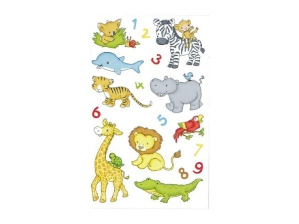 Aufkleber bsb Deco Sticker Babytiere, Blisterpackung