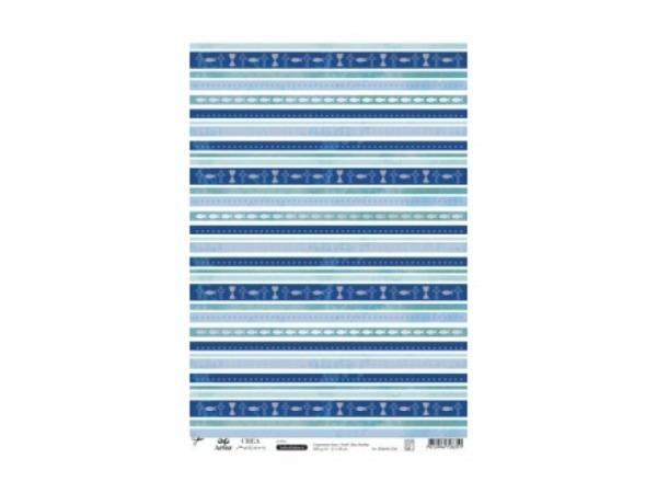 Aufkleber Artoz Creamotion 21x30cm Konf/Kom. Blau Streifen