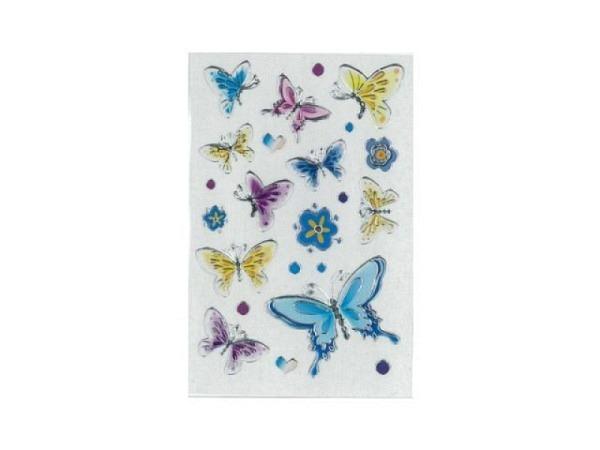 Aufkleber bsb Deco Sticker, Schmetterlinge mit silbrigem Rahmen