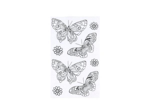 Aufkleber bsb Deco Sticker zum ausmalen, Schmetterlinge