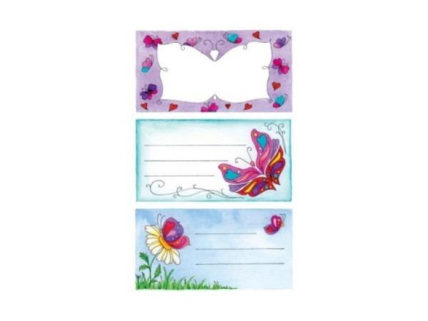Aufkleber Zweckform School, Heftbeschriftung, Schmetterlinge