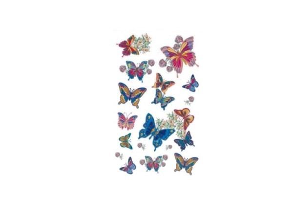 Aufkleber bsb Deco Sticker, glitzernde Schmetterlinge